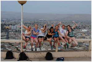 Enjoying time on top of the Morro with a view of the whole city