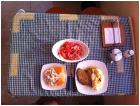 Beautiful meals cooked just for me by my host mom