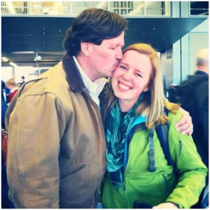 Saying goodbye to my dad at O'Hare in Chicago!