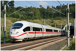 ICE high-speed trains in Germany are clean, fast, and efficient.  Cuts more than 1 hour of trips between Hamburg and Berlin.