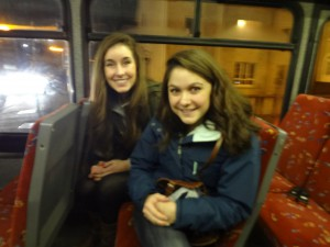 Riding the school bus!