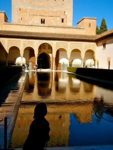 Getting in touch with my inner Jasmine at the Alhambra.