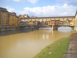 Ponte Vecchio on the last day when the sun finally peeked out!