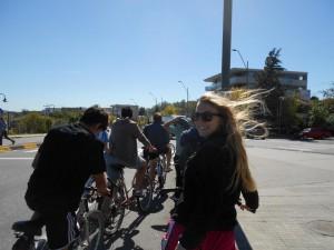 Biking along the coast in Uruguay