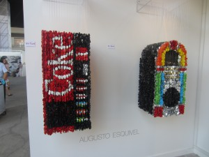 Two of the button sculptures.