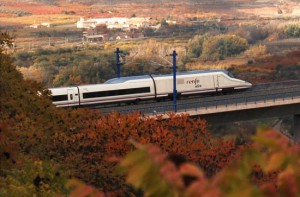 AVE-Renfe-Train-with-Spanish-Countryside