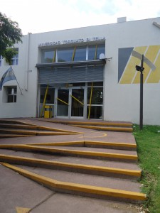 "The entrance to Di Tella, my ""new"" university"