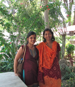 With my travel buddy, a real life author (!), an expert on the Amte's. She was working on an Amte biography at the time