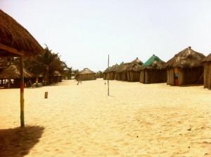 The huts of Ada Foah.