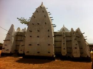 The oldest mosque in Ghana at Larabanga.