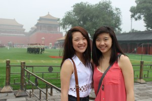 My friend Hillary and I inside Tiananmen Square.