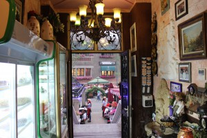 Inside a Venice-themed restaurant in the Italian Concession