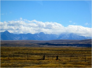 A mountain range (one of very many) that we saw from the bus.