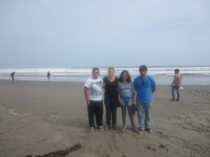 Part of my Ecotourism group and I on the beach in Chilca