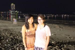 Nighttime at the beach