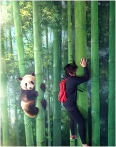 Climbing with my panda friend here.