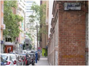 My street, Calle de Altamirano