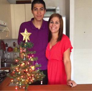 6.2 Max and I with Our Christmas Tree!