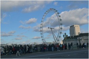 This is the London Eye, which got destroyed by Voldemort during a movie. Obviously, the most important fact about this. It was also closed for maintenance.