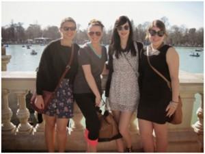 Left to right: Alyssa, Alex, Lauren, and me
