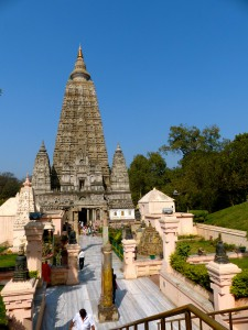 Behind this temple is the tree where Buddha became enlightened