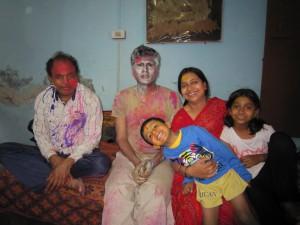 On the right: Nitya ji (Pinku ji's wife) and Vedika, their daughter.