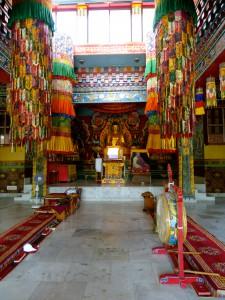Inside a Tibetan temple