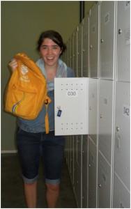 Lockin' up my backpack before i study...
