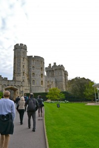 Small part of Windsor Castle. Then Queen was actually in!