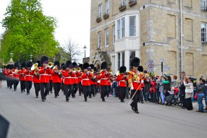 Changing of the guards at Windsor Castle