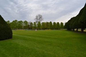 Part of the expansive Hampton Court gardens