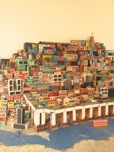 Exhibit at Museau de Arte-Model of Favelas in Rio