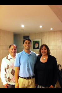 My parents and I before the Seder