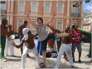 trying out my capoeira skills