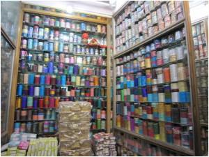 A bangle shop in a Banarasi alleyway