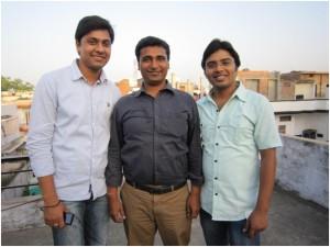 Nitish, Sundar, and Hari, our student coordinators who work tirelessly