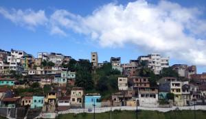 Favelas next to the stadium