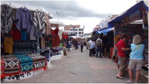 In the market square you are free to roam and shop to your heart's content.
