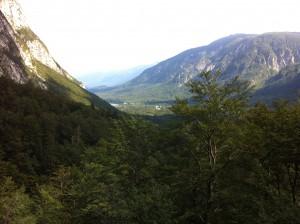 View from Savica Waterfall