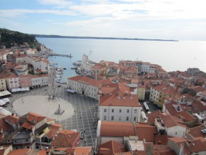 main square seen from bell tower