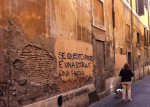 graffiti and dogs- two of the more common things I've seen in Rome so far