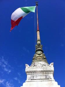 at Piazza Venezia