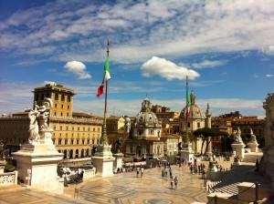 view from Piazza Venezia