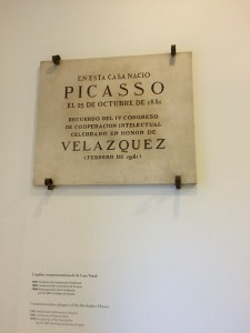 Plaque in Picasso's Home