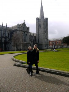 In front of St. Patricks Cathedral