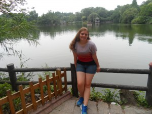 Chilling by zoo lake