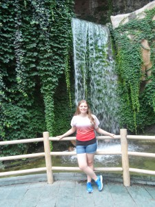 Chilling by zoo water fall