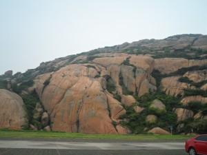 Island rock formations