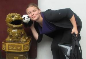 Me, Bao Bao and little door guard