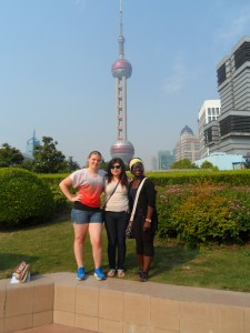 The Three Muskateers Before ShangH\hai TV Tower